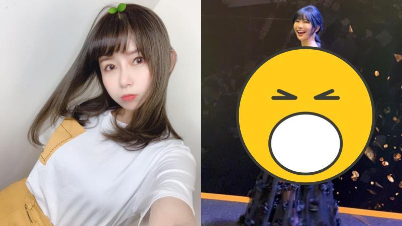 ▲阿樂低胸透視禮服太火辣。(圖/阿樂臉書)