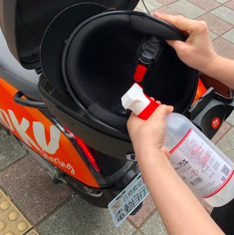 <br> ▲Gokube計畫放置 1000 瓶的消毒液於Gokube電動車所附置物箱中供民眾消毒使用,希望能讓防疫零死角。(圖/業者提供)