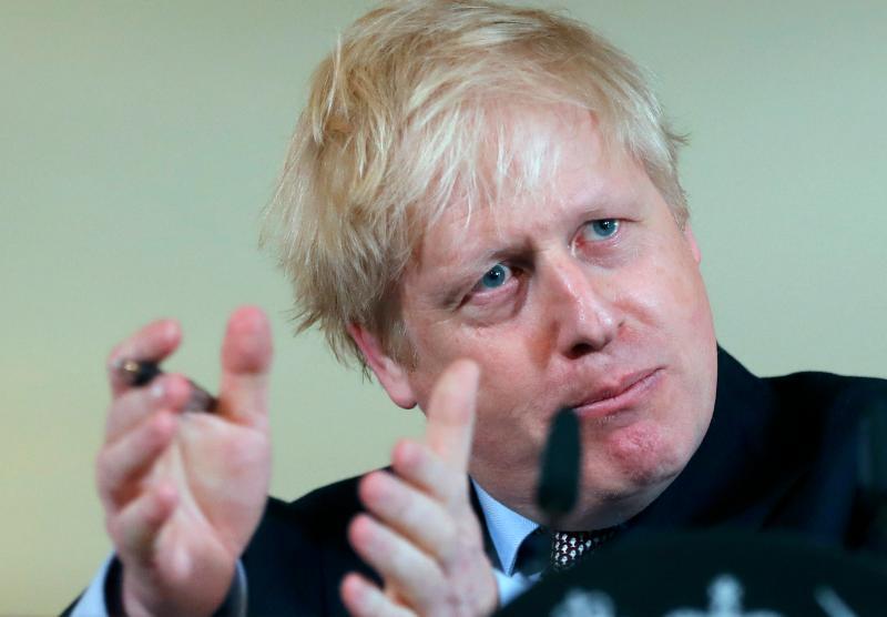 ▲英國首相強森。(圖/美聯社/達志影像)
