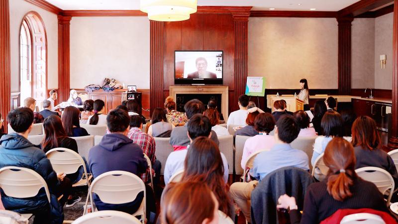 ▲ 台、美三所名校的視訊論壇,交流台灣防疫成果。(圖/高醫大提供)