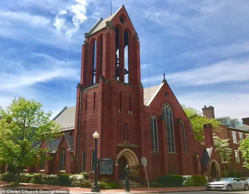 ▲華盛頓喬治城基督堂。(圖/翻攝自每日郵報)