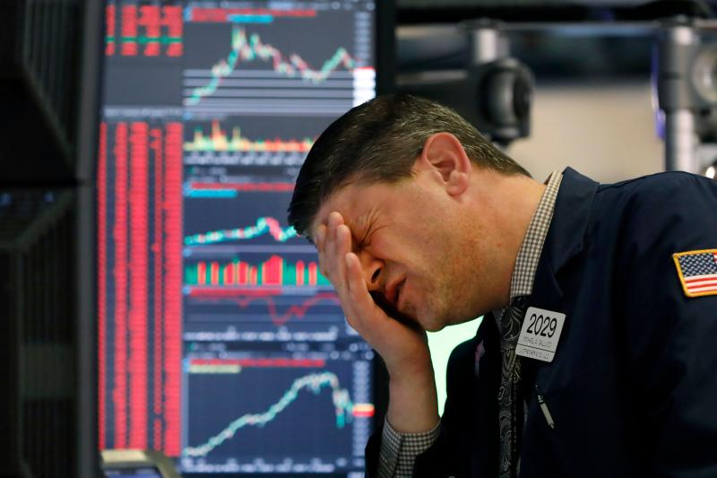 ▲美股 11 日收盤再度重挫。(圖/美聯社/達志影像)