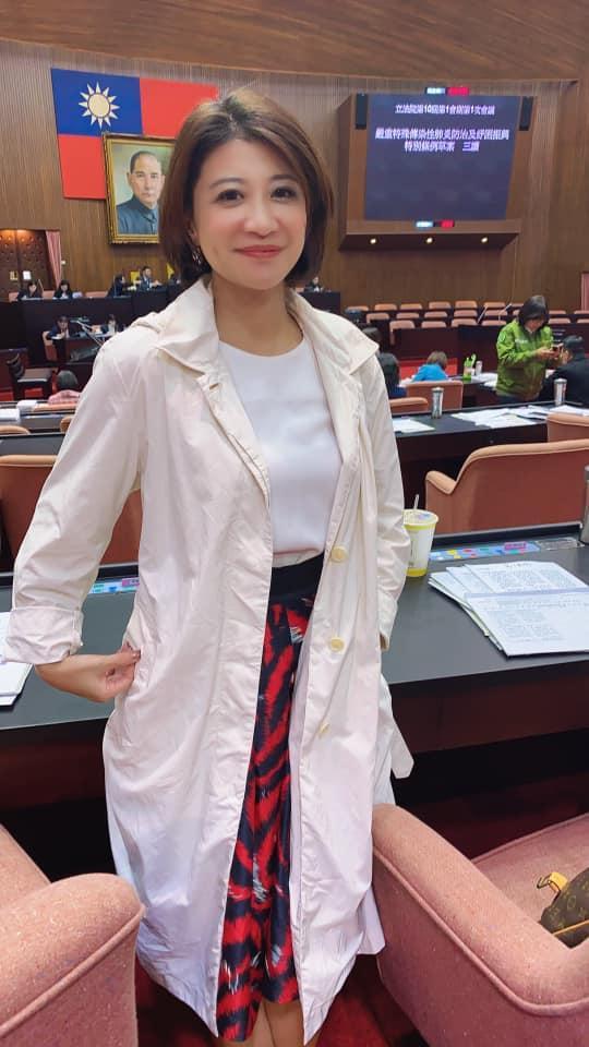 ▲民進黨新科立委林楚茵平時形象,與此次cosplay有極大反差。(圖/林楚茵臉書)