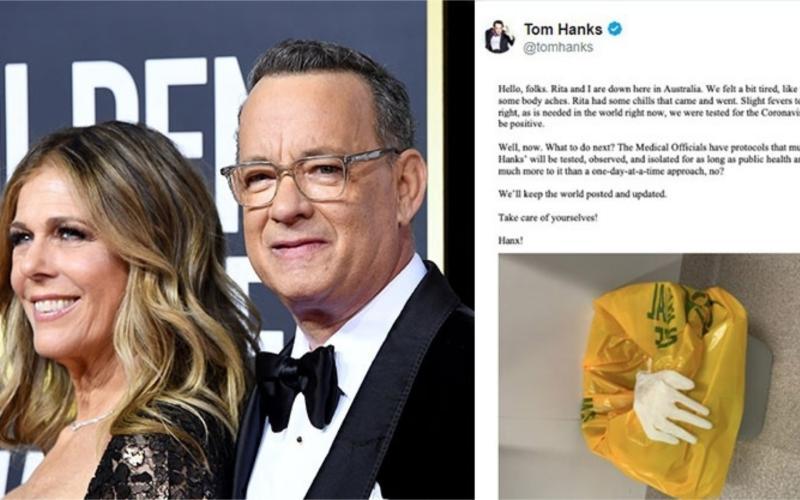 ▲湯姆漢克斯與妻子麗塔確診武漢肺炎。(圖/取自CNN)