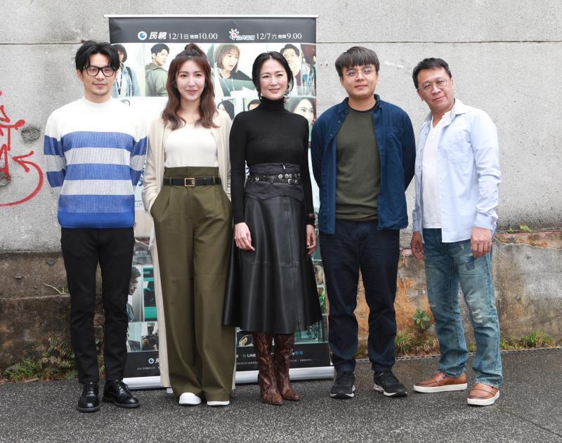 (左起)姚淳耀、楊謹華、李之勤、導演李權洋、演員游安順出席《鏡子森林》第三季媒體茶敘02
