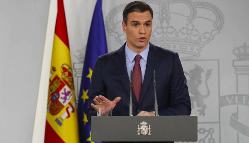 ▲西班牙總理桑傑士宣布延長緊急狀態至 4 月 11 日。(圖/翻攝自Oliver Press )