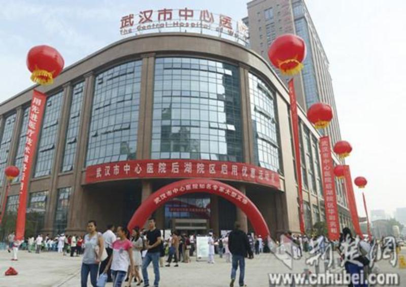 ▲武漢中心醫院(圖/翻攝湖北日報網)