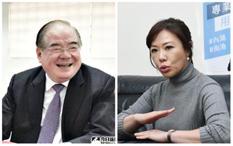 國民黨祕書長李乾龍(左),專任副祕書長李彥秀(右)。(圖 / NOWnews 組圖)