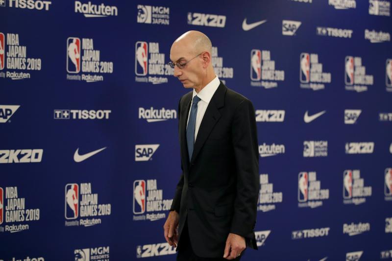 NBA主席Adam Silver(圖/美聯社/達志影像)