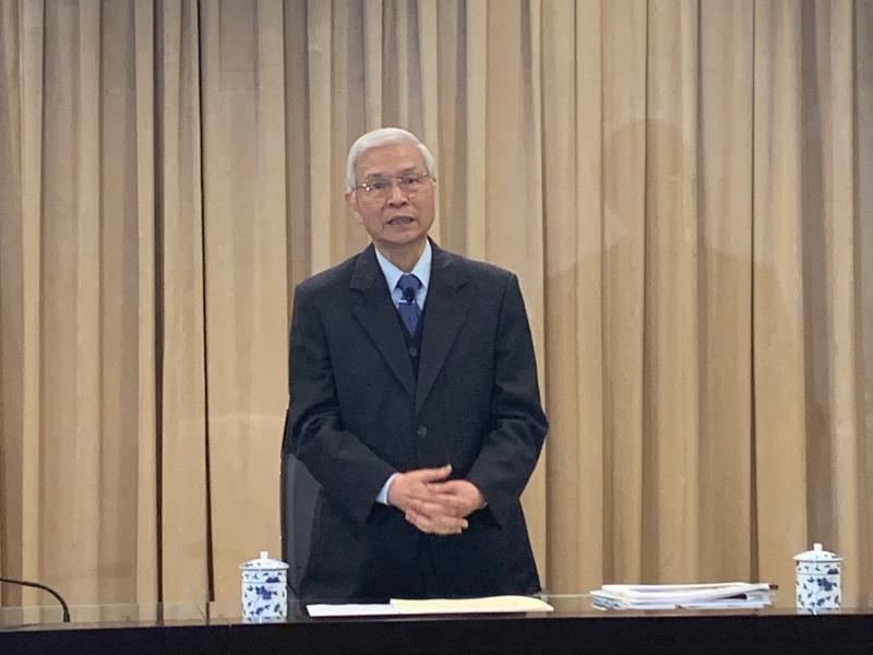 ▲中央銀行總裁楊金龍說明貨幣政策。(圖/記者顏真真攝)