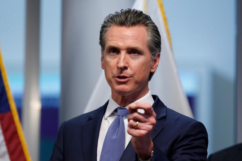 ▲加州將在下週舉行對州長紐松(Gavin Newsom)的罷免投票。資料照。(圖/美聯社/達志影像)