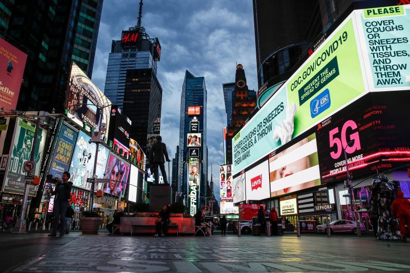 ▲紐約時代廣場。(圖/美聯社/達志影像)