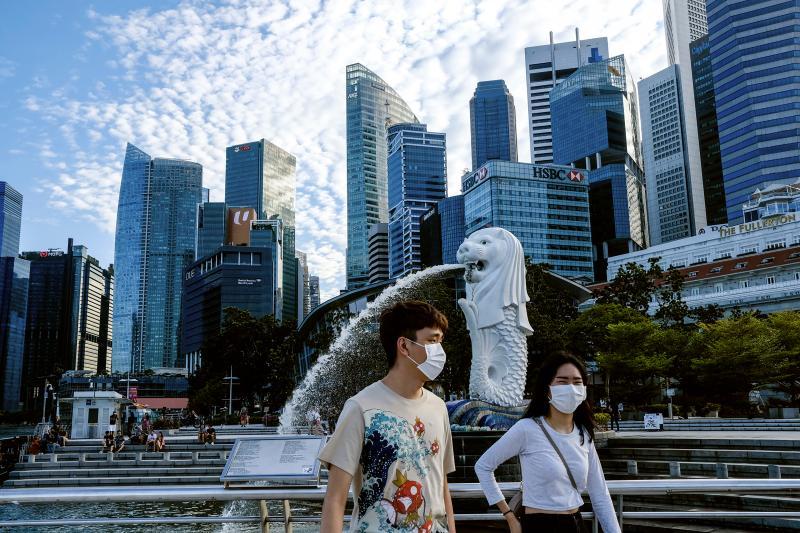▲新加坡的新冠肺炎疫情仍在持續。(圖/美聯社/達志影像)
