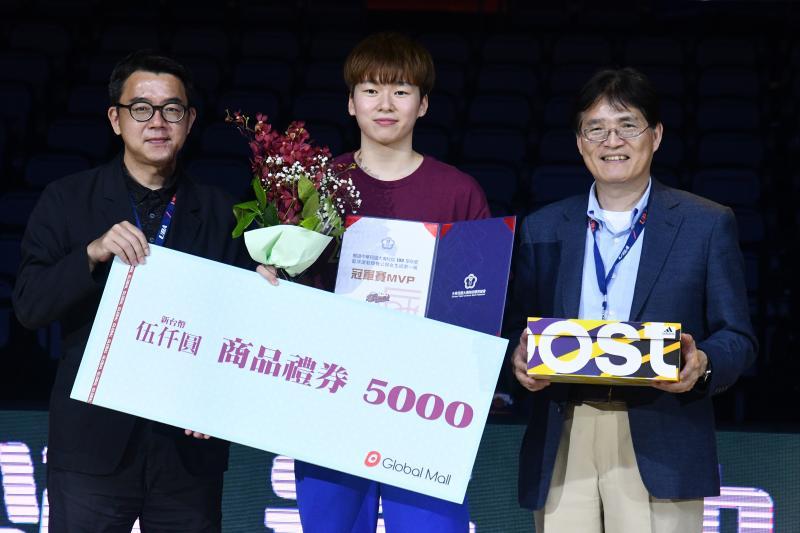 <br> ▲108學年度UBA,世新大學奪隊史首冠,林蝶獲得MVP。(圖/記者林柏年攝 , 2020.03.22)
