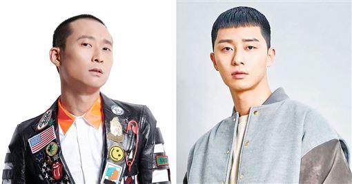 <br> ▲浩子(左)和朴敘俊神情相似。(圖/翻攝臉書)