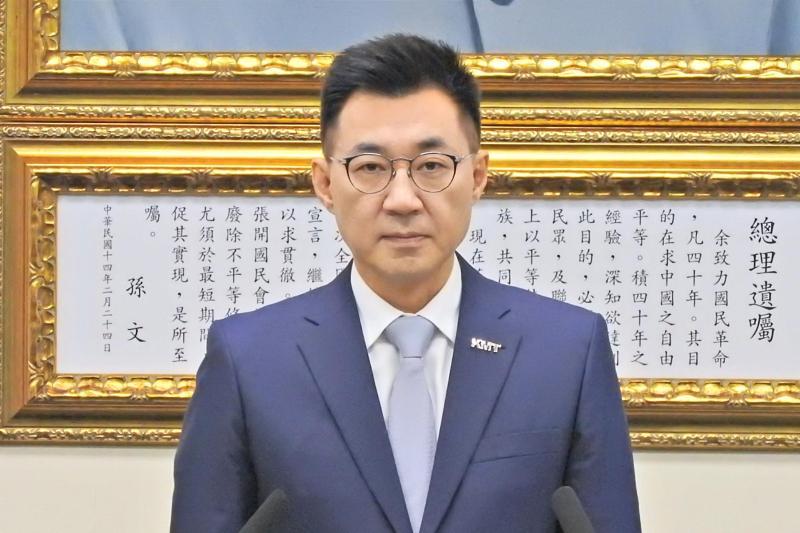 國民黨主席江啟臣。( 圖 / 記者陳弘志攝 )