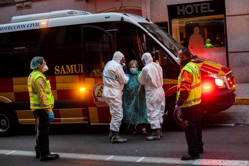 ▲新冠肺炎疫情在歐洲持續延燒。圖為近日西班牙馬德里。(圖/美聯社/達志影像)