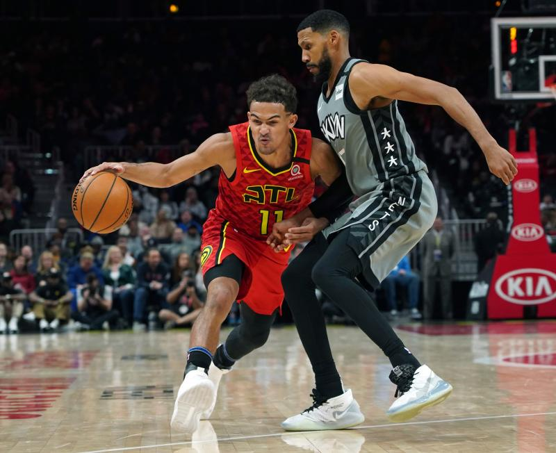 Nets Hawks Basketball