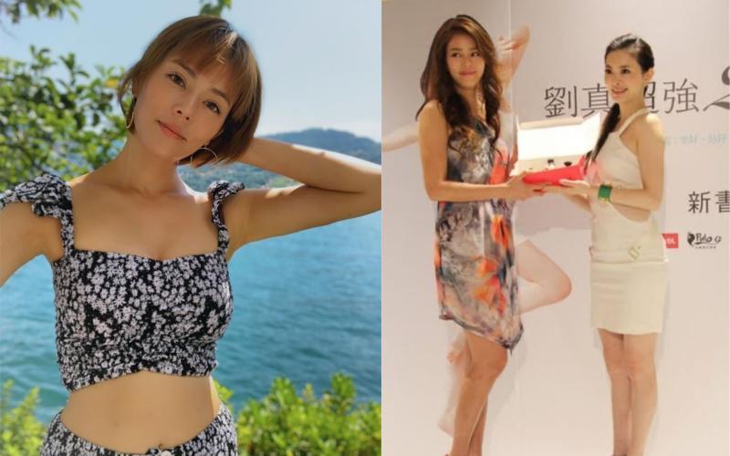 ▲劉香慈(左) PO出和劉真(右)的合照,左圖為劉相慈。(圖/翻攝劉香慈臉書)