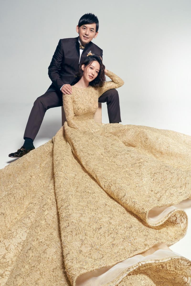 <br> ▲孟耿如與黃子佼婚紗照曝光。(圖/取自孟耿如臉書)