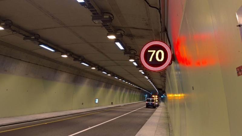 蘇花改武塔隧道至和平端,清明連假試辦提升最高速限至70公里、最低速限為50公里