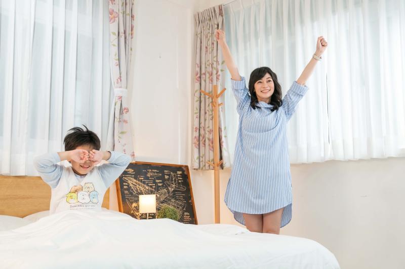 ▲鄭凱云與兒子安安首度同框拍片。(圖/TVBS提供)