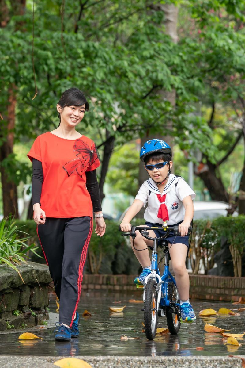 <br> ▲鄭凱云和兒子安安感情深厚。(圖/TVBS提供)