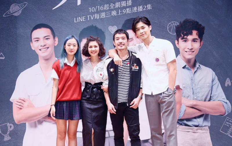 <br> ▲蔡牧霏(左)為蔡岳勳之女。(圖 / LINE TV提供)