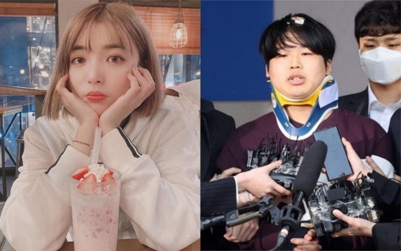 ▲阿圓(左)談南韓N號房事件,右圖為該事件主嫌。(圖/阿圓臉書、hankyung )