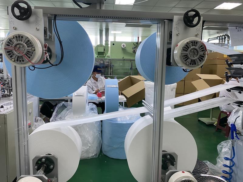 口罩製作需要3種不織布生產而成