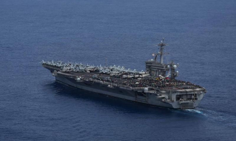 ▲美國軍艦「羅斯福號」。(圖/翻攝自官方臉書)
