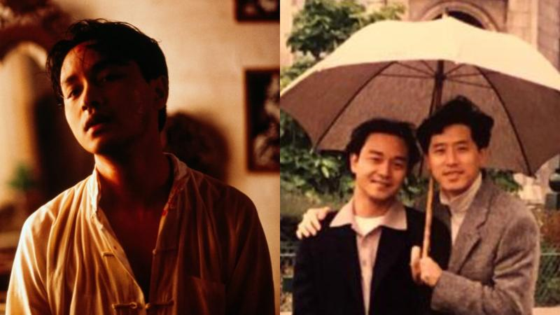 ▲張國榮(左圖)逝世17週年,生前摯愛唐鶴德曝光一張與哥哥珍貴的合照追悼。(圖/劇照、唐鶴德IG)