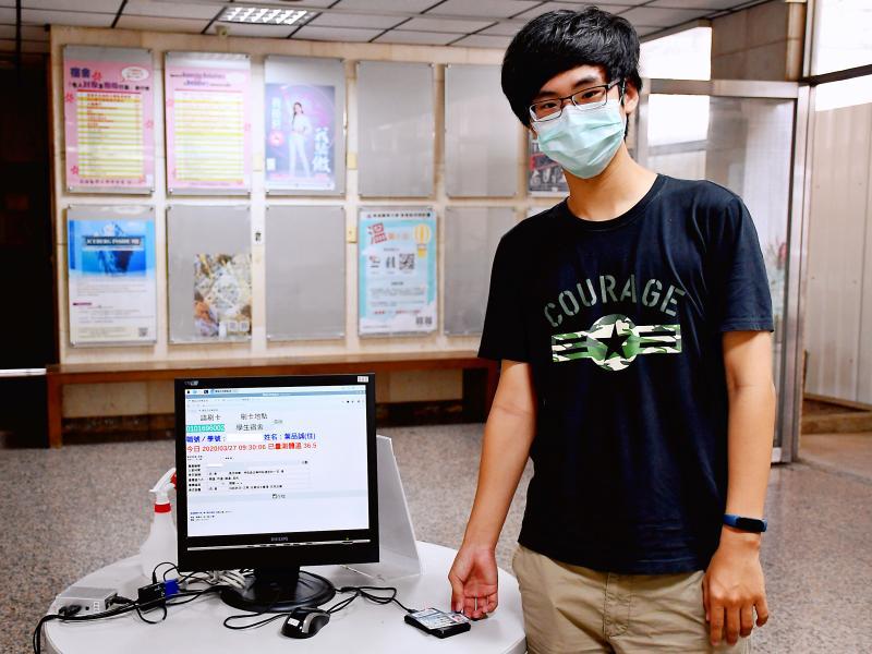 高醫大學生設計「會說話」門禁 1秒通關防疫不塞車