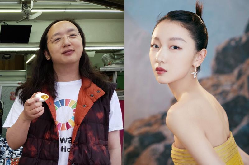 <br> ▲唐鳳(左)跟周冬雨眼睛極為相似。(圖 / 翻攝臉書、微博)