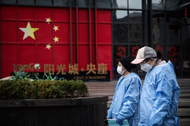 ▲中國武漢疫情時的街景。(圖/翻攝自 Daily Mail )
