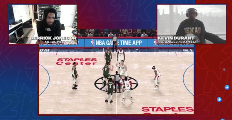 NBA/NBA2K球星對抗賽直播!KD打電動也超強
