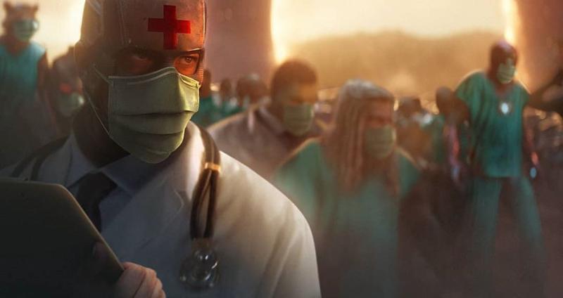 ▲▼超級英雄們都戴上口罩,對抗新冠病毒。(圖/BossLogic IG)