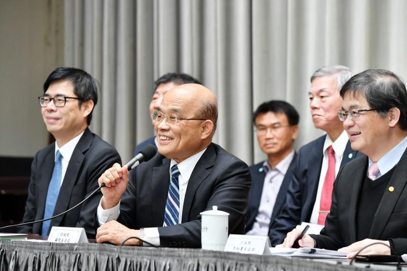 行政院長蘇貞昌親自主持4月2日臨時院會後記者會。( 圖 / 行政院提供 )