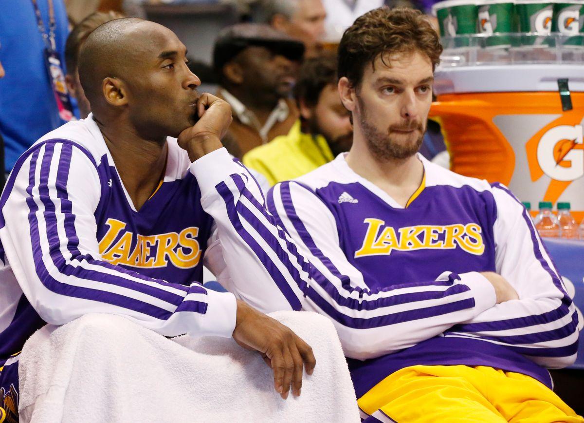 ▲Pau Gasol今日宣布退役,湖人預計將他的球衣和Kobe Bryant的球衣一同高掛史坦波中心球場。(圖/美聯社/達志影像)