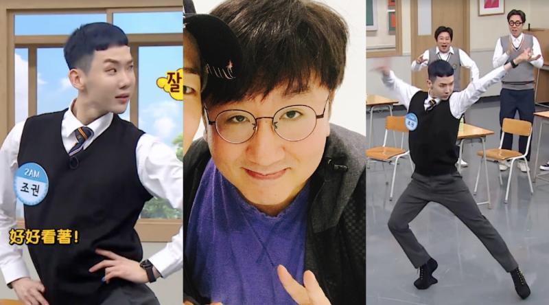 ▲ 趙權節目透露〈Animal〉的高跟鞋舞蹈是房時爀(中)的點子。(圖/愛奇藝台灣站、房時爀Twitter)