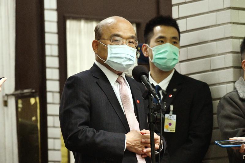 行政院長蘇貞昌7日赴立法院備詢。( 圖 / 記者林柏年攝 )