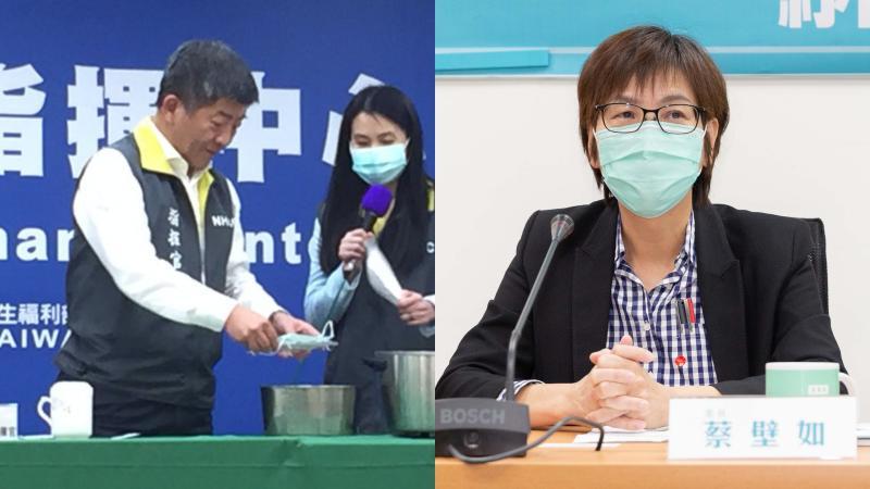 針對防疫指揮中心指出可以透過蒸口罩的方式,重複使用口罩,醫療出身的民眾黨立委蔡壁如表示,政府應該提出科學數據說服民眾。
