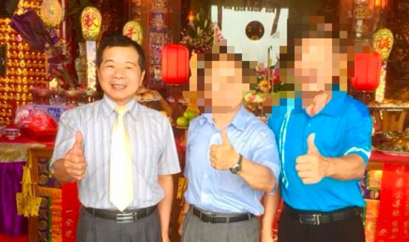 <br> ▲地方盛傳李佳隆(左一)行事頗受爭議,「問題不少」。(圖/記者陳聖璋翻攝)
