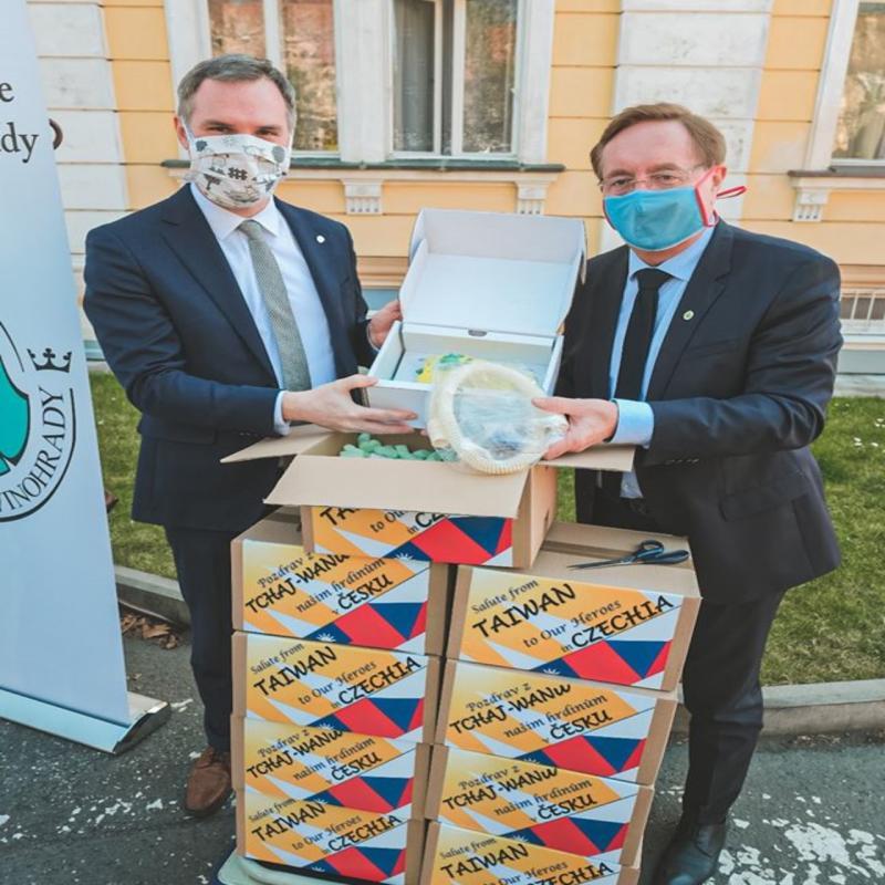 ▲布拉格市市長賀吉普於臉書上貼文感謝台灣捐贈呼吸器。(圖/翻攝自賀吉普臉書)