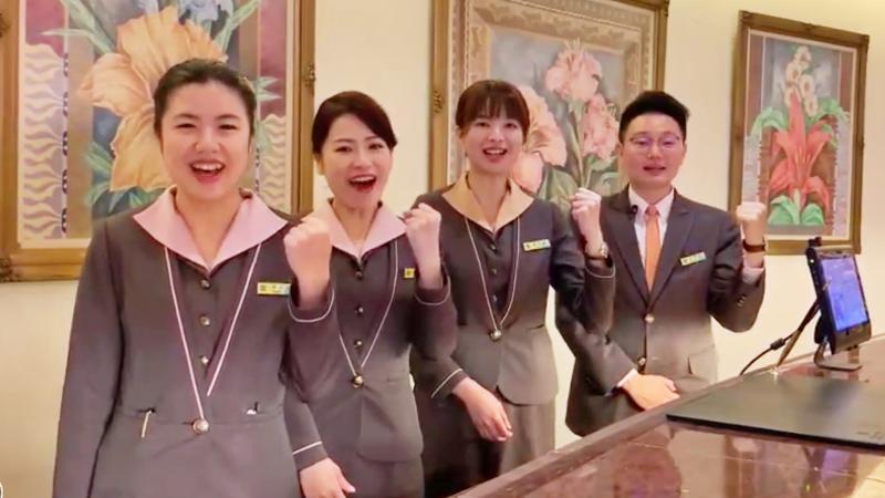 ▲ 漢來飯店員工拍攝影片為台灣加油。(圖/漢來大飯店提供)