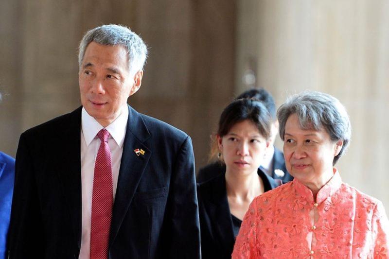 ▲新加坡總理李顯龍(左)、夫人何晶(右)。(圖/翻攝自推特)