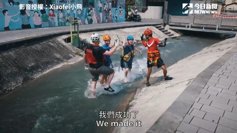 影/開箱美濃「秘境古水道」 130米水道老外玩到褲破