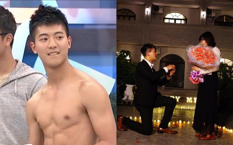 ▲《康熙來了》最帥消防員柏翰向女友求婚。(圖/翻攝柏翰臉書、我愛貓大Youtube )