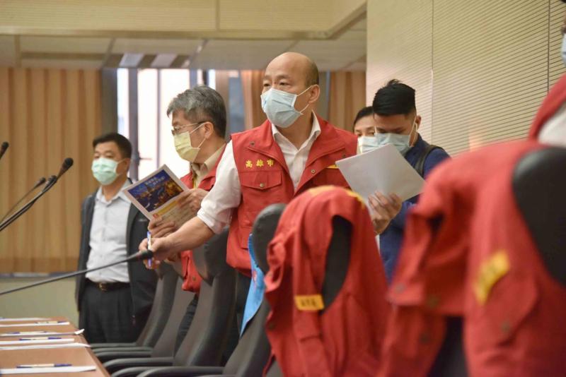 ▲韓國瑜表示,未停業的六大行業,市府將規劃採取實名制,以進行更有效的防疫工作。(圖/高市府提供)