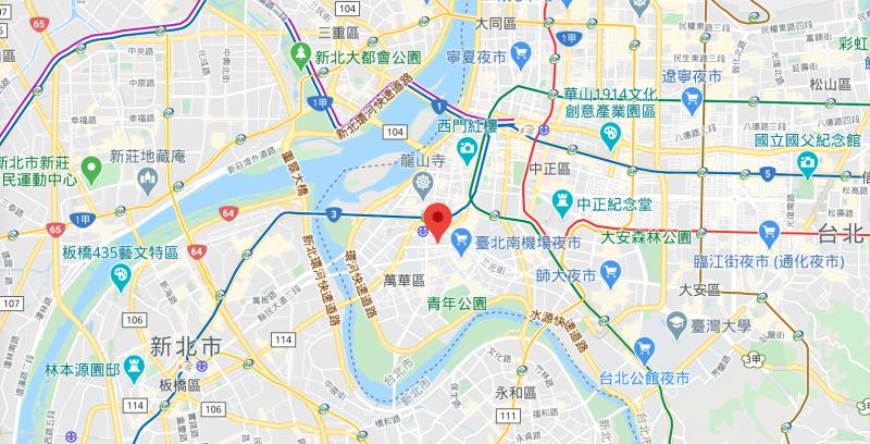 ▲北市萬華莒光路 11 日深夜發生隨機殺人事件。(圖/翻攝自 Google map )
